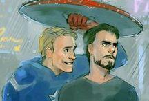 Captan America x iron man