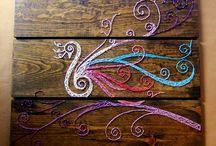 Filografi / Filografi,vintage string art