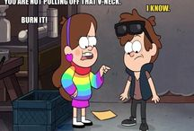 Gravity Falls / Twins Dipper and Mabel Pines are sent to spend the summer with their great-uncle, Grunkle Stan, in the mysterious town of Gravity Falls.