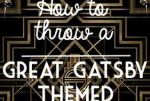 Great Gatsby Theme Party Board 1920s / Ideas to turn a party into Party! Lets have fun!