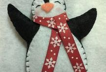 Christmas crafts / Felt, fabric, paper -all things Christmas