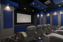 Home Theatre System / Home movie theatre designed and built with enough seating for family and friends! / by Lane Homes & Remodeling, Inc.