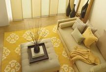 Yellow Rooms / Yellow is bold, cheery and a perfect choice for a pop of color in any room. It's a lovely option for the spring/summer seasons or even to liven up those gloomy winter days.