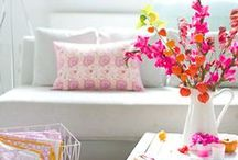 Spring Home Decor / Spring is the perfect season to fill your home with vibrant colors and gorgeous flowers! Scroll through to get inspiration for your spring home decorating.