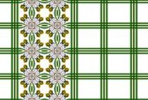 Plaids and Border Prints / Plaids and Border Prints that compliment each other.  If they are not yet marked for sale it is because they are still in the proofing stage. Please contact me and I can tell you how to proceed.
