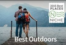 Best Places for the Outdoors / Niche.com highlights #American towns and cities that offer an abundance of opportunities for #outdoor #enthusiasts. You can view our full ranking of Metros with the best access to outdoor activities at https://local.niche.com/rankings/metros/best-outdoors/ #Rankings #outdoors #outdooractivities #wanderlust #escape  / by Niche