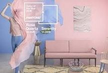 PANTONE Color of the Year 2016 /  Serenity and Rose Quartz Home Decor