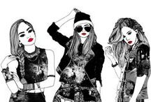 fashion illustration art. / Art of highly fashionable looks and popular styles.