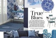 Style Directions - True Blue / From cobalt to indigo, these are the blues trending in today's home furnishings.