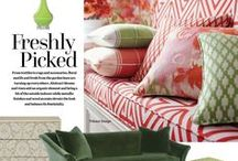 Style Directions - Freshly Picked (Florals & Vines) / Stylish furniture and home furnishings featuring garden-fresh colors, floral patterns and vines.