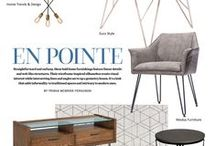 Style Directions - En Pointe (Modern & Architectural & Wireframes) / Architectural by nature, these furniture styles are modern with an updated twist and features hairpin and paperclip legs and modern profiles.