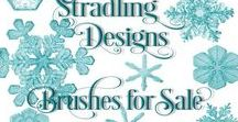 Stradling Designs Photoshop Brushes for Sale / Photoshop Brushes for Sales by Stradling Designs