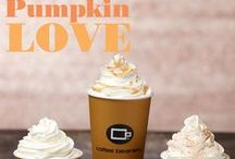 Fall into Flavor / Fall; that gorgeous time of year when the air cools, the leaves change and we get to snuggle down with a hot cup of coffee!