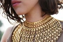 Glorious Gold / Whether it is highly polished or sparkling glitter - a collection of gold Jewellery, Beads, Fashion and accessories.