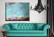 Oil painting on canvas / Abstract oil painting on canvas