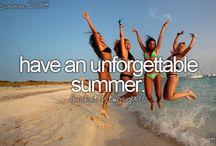 (Summer) bucketlist