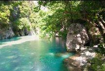 Acheron Springs / Πηγές Αχέροντα / Αφού σταματήσετε το αυτοκίνητό σας, ξεκινήστε να περπατάτε κάτω από τα Πλατάνια, μέσα στα πεντακάθαρα νερά του Ποταμού ή ακόμη κολυμπήστε, αν δεν σας ενοχλεί το λίγο κρύο νερό, μέχρι να φτάσετε στην πρώτη πηγή.  After you stop your car, start to walk below the Plane Trees, through the crystal clear Waters or even swim inside, if you are not bothered by the cold water, until you reach the first Spring.