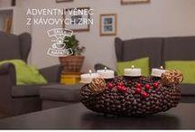 Kávová dekorace / Z kávových zrnek si můžete připravit nejen lahodný nápoj, ale také originální dekoraci, která váš domov navíc krásně provoní!