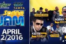 Tampa Spring Jam featuring Keith Sweat, Bobby Brown, Jagged Edge & more - April 2, 2016 / R&B soul singer Keith Sweat brings his unique sound and timeless classics to the USF Sun Dome once again as the headliner of Spring Jam. Joining him this year will be Bobby Brown, Jagged Edge, Next, and H-Town!