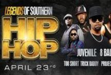 Legends of Southern Hip Hop Featuring Juvenile and 8 Ball & MJG - April 23, 2016 / Legends of Southern Hip Hop Featuring Juvenile, Too Short, 8 Ball & MJG, Trick Daddy, Project Pat and Pastor Troy coming to the USF Sun Dome!