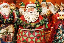 My Obsession...Jim Shore Santa's! / by Maria Brennan