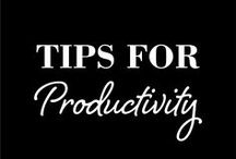 Organization + Productivity Tips / Organization and time management tips and tricks. How to stay productive, productivity tips, organization hacks, planning your day, tools for productivity, productivity tools, time management apps, how to organize your time.
