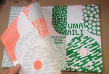 Riso prints / Risograph - Risography / Risograph drukwerk, gedrukt door een stencil machine. Mooi handmatig effect.