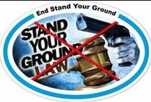The Issue: End Stand Your Ground / posters and statements about stand your ground laws