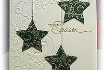 Идеи открыток к Новому году и Рождеству.