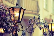LAMP POSTS, CANDLES, LANTERNS, CHANDELIERS ... / by Rosario Silva Bellini