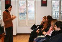 """Profissional por um dia (3.ª edição) / No âmbito da 3.ª edição da iniciativa """"Profissional por um dia"""", o IPNP acolheu os alunos do CET de Acompanhamento de Crianças e Jovens do ISMAI no dia 31 de janeiro de 2014, e foram apresentados alguns dos desafios relacionados com o trabalho desenvolvido na área do Serviço Social (Dra. Susana Cunha), da Gerontologia (Dr. Vítor Fragoso), da Neuropsicologia (Dra. Susana Oliveira), da Psicologia Vocacional (Dra. Filomena Almeida) e da Psicologia Clínica (representado pela Dra. Valéria Gomes)."""