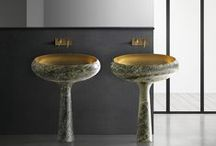 Kreoo_Gong / Gong is a purely shaped washbasin where marble pure shape emphasizes its design and aesthetic excellence.