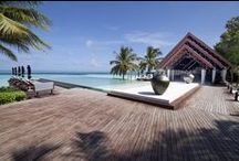 Projects with Timber / Explore the wonderful world of Malaysian timbers through various applications, as shown here in various luxury resorts, residences and commercial spaces.