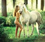 Photo naked +  horse