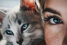 Photo girl and cat