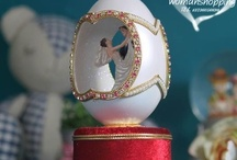 Faberge Style Russian decorated eggs