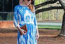 Mode en bleu / Fashion blue