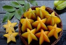 Star Fruit/ Carambola / It is rich in antioxidants and potassium, but low in sugar, sodium, and acid.  Star fruits are sources of vitamins A and C and are known for lowering cholesterol.  It is rich in fibre hence improving digestion, treats coughs and is also a source of vitamin B.  On the other hand carambola contains oxalic acid, which has been considered harmful to individuals suffering from kidney failure, kidney stones, or those under kidney dialysis treatment.  For more info visit http://www.lifegivingfoods.org/