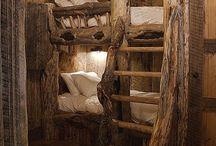 Skinnfellvasshytta / Innredning av hytte