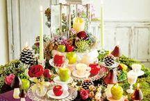 AFTERNOON TEA in AUTUMN / 暖かさと涼しさが入り混じる秋空の下で、秋の実りと花々を集めたアフタヌーンパーティー。