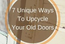 Upcycling Ideas for Doors / As door specialists we love anything to do with doors!  Before you throw away your old doors, think twice - there are lots of wonderful upcycling tricks that could give your door another lease of life.   We have a number of up upcycling posts on our blog https://www.jbkind.com/blog