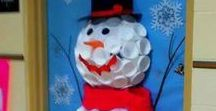 Christmas Door Decorations / Creative, quirky and classy!  A lovely mix of Christmas door decorations to inspire