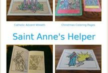 Catholic Calendar For Kids / Catholic Calendar printables, feast days, saint coloring pages and more at Saint Anne's Helper.