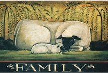 Sheep / We love sheep! They are so warm & fuzzy, and a great look with country decor.