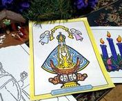 Advent Wreath / Advent wreath coloring pages help children count the days till Christmas. Say an Advent prayer each night as you light the Advent candles. O Come Emanuel!