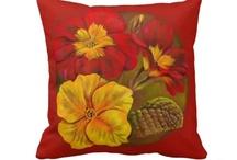 My art pillows & cushions / Fine art pillows created from original artwork by me artist Sarah Trett