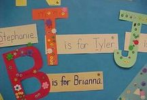 Names / ideas and activities for teaching names in kindergarten