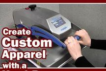 How to Heat Press / Educational videos and resources with tips and tricks for using a heat press to apply screen printed, digital, and rhinestone transfers to T-shirts, bags, caps, and other fabric materials.