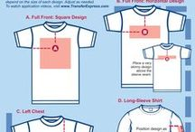 Transfer Size & Placement / Great resource for determining the sizes and placement of your heat transfer design images for t-shirt, pants, sleeves, and more.