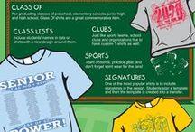 Custom School Shirts & More / Find ideas for screen printed school uniforms and school spirit wear using custom transfers